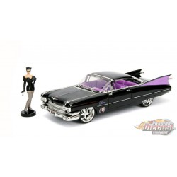 1959 Cadillac Coupe Deville with Catwoman Figure -  Jada 1/24 - 30458 - Passion Diecast