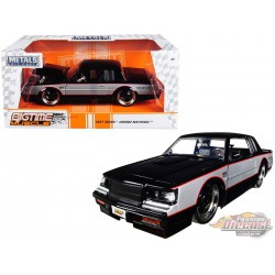"1987 Buick Grand National Black and Silver ""Big Time Muscle"" Diecast Model Jada 1/24 30528 MJ -  Passion Diecast"