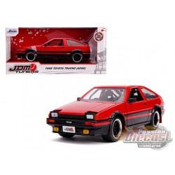 "1986 Toyota Trueno (AE86) RHD  Red and Black ""JDM Tuners"" Diecast Model - Jada 1/24 - 99577  -  Passion Diecast"