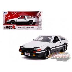 "1986 Toyota Trueno (AE86) RHD  White and Black ""JDM Tuners"" Diecast Model - Jada 1/24 - 31602 -  Passion Diecast"