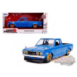 "Datsun Pickup Truck  Blue with Gold Wheels  ""JDM Tuners"" Diecast Model - Jada 1/24 - 31603  -  Passion Diecast"