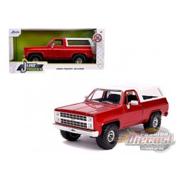 "1980 Chevrolet Blazer K5 Off Road  Red and White  ""Just Trucks"" Diecast Model - Jada 1/24 - 31594  -  Passion Diecast"