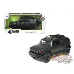 "Toyota FJ Cruiser with Roof Rack Gray Metallic ""Just Trucks"" Diecast Model - Jada 1/24 - 99318  -  Passion Diecast"