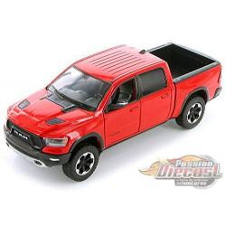 2019 Dodge Ram 1500 Rebel Pickup Truck Red Diecast Model - Motormax 1/24 - 79358 RD - Passion Diecast