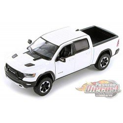 2019 Dodge Ram 1500 Rebel Pickup Truck White Diecast Model - Motormax 1/24 - 79358 WH- Passion Diecast