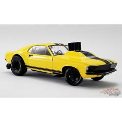 1969 Mustang Gasser Stinger  Jaune et Noir - Acme Exclusive 1/18  - 18932-B  - Passion Diecast