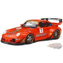 Porsche RWB 993 Jagermeister  Orange  - GT Spirit  Asian Exclusif 1/18 - KJ039 -  Passion Diecast