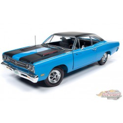 1969 Plymouth Road Runner Hardtop Petty Blue - Auto World /American Muscle 1/18 - AMM1184 -  Passion Diecast