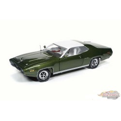 1971 Plymouth Satellite Sebring  Plus, Sherwood Green - Auto World / American Muscle 1/18 - AMM1092  -  Passion Diecast