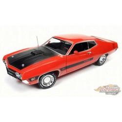 1970 Ford Torino Cobra Twister, Red  - Auto World / American Muscle 1/18 - AMM1112   -  Passion Diecast