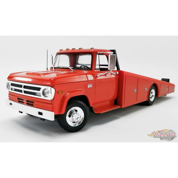 1970 Dodge D-300 Ramp Truck Red - Acme 1/18 - 1801900  - Passion Diecast