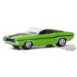1970 Dodge Challenger R/T HEMI Convertible in Sublime Green- GL Muscle Series 23 - 1-64  greenlight - 13270 D - Passion Diecast