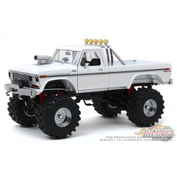 Ford F-250 Monster Truck 1979 avec roues 48 pouces Kings of Crunch - Blanc - Greenlight 1/18 -13556 -  Passion Diecast