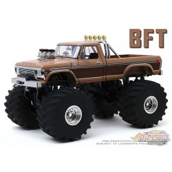 BFT - 1978 Ford F-350 Monster Truck with 66-Inch Tires Kings of Crunch - 1/18  Greenlight -13557  -  Passion Diecast