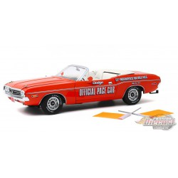 1971 Dodge Challenger Convertible - Indianapolis 500 Pace Car  with Orange Flags - Greenlight 1/18 - 13569  -  Passion Diecast