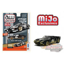 1965 Ford GT no2 Dirty Version Noir  - Auto World Mijo Exclusives 1:64 - CP7652  Passion Diecast