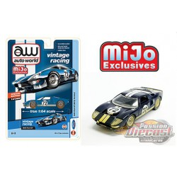 1965 Ford GT no72 Dirty Version Blue - Auto World Mijo Exclusives 1:64 - CP7651 -  Passion Diecast