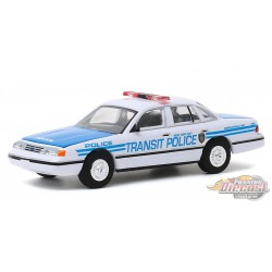 1994 Ford Crown Vic Police Interceptor - New York City Transit Police Ceremonial Unit - Greenlight 1/64 Hobby Exclusive - 30160