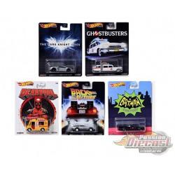 Hot Wheels 1:64 Retro Entertainment R Case 2020  assortiment de 5 - 1/64  - DMC55-956R - Passion Diecast