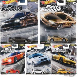 Hot Wheels 1:64 2020 FAST & FURIOUS FAST TUNER GBW75-956F SET OF 5 CARS- GBW75-956F  -  Passion Diecast