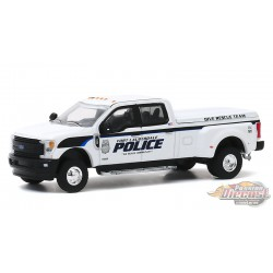2019 Ford F-350 Fort Lauderdale, Florida Police Department Dive Team - Dually Drivers Series 4 - 1-64  Greenlight  - 46040 F