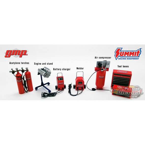 Summit Racing Equipment - Shop Tool Set n°1 -  GMP  1/18 - 18940 -  Passion Diecast