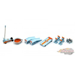 Gulf Oil - Shop Tool Set  no 2 - 1/18 GMP - 18942  -  Passion Diecast