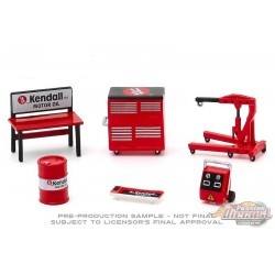 Kendall Motor Oil -  Shop Tool Accessories Pack Series 3  -  Greenlight 1/64 - 16060 B -  Passion Diecast