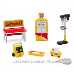 Shell Oil  -  Shop Tool Accessories Pack Series 3  -  Greenlight 1/64 - 16060 C -  Passion Diecast