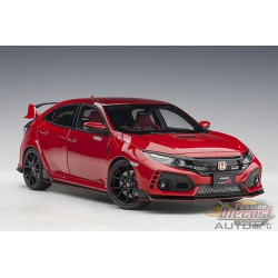 HONDA CIVIC TYPE R (FK8) (FLAME RED) - Autoart 1/18 - 73268 - Passion Diecast