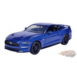 2018 Ford Mustang Gt  Blue - Motormax 1/24 - 793582 BL - Passion Diecast