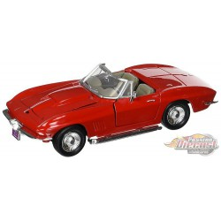 1967 Chevrolet Corvette convertible red  - Motormax 1/24 - 73224 RD - Passion Diecast