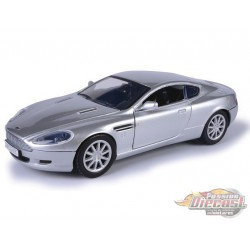 Aston Martin DB9 Coupe Silver - Motormax 1/24 - 73321 SIL - Passion Diecast