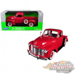 1953 Chevy  Pickup  Red  Welly 1/24 28087 Rd - Passion Diecast