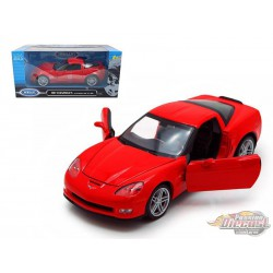 2007 Chevrolet Corvette Red  -  Welly 1/24 - 22504 RD - Passion Diecast