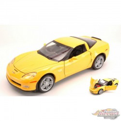 2007 Chevrolet Corvette Yellow  -  Welly 1/24 - 22504 YL - Passion Diecast