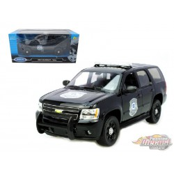 2008 Chevrolet Tahoe Police Black  -  Welly 1/24 - 22509 BP  - Passion Diecast