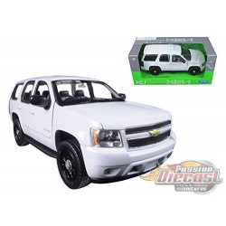2008 Chevrolet Tahoe Police  White-  Welly 1/24 - 22509 WEP  - Passion Diecast