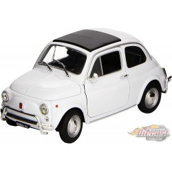 Fiat Nuova 500 1957 White - Welly 1/18 - 18009 - Passion Diecast