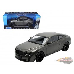 Bentley Continental Super Sports Coupe Grey - Welly 1/18 - 18038 GR - Passion Diecast