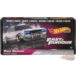 Fast & Furious Premium Bundle no 2, Box Set of 5 - Hotwheels 1/64  -  GRB02 -  Passion Diecast
