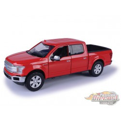 2019 Ford F-150 Pickup  Lariat Crew Cab  Red - Diecast Model - Motormax 1/24 - 79363 RD  - Passion Diecast