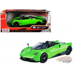 Pagani Huayra Roadster  Lime Green  - Motormax 1/24  - 79354 GR  - Passion Diecast