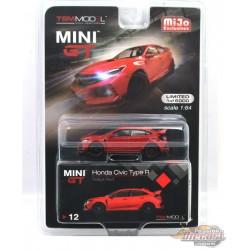 Honda Civic Type R (FK8) Rallye Red - Mini GT by TSM Models 1/64 - MGT00012 -  Passion Diecast