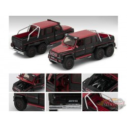 Mercedes Benz G63 AMG 6x6  Red and Black - 1st Edition - Era 1/64 - MB196X6RF06  -  Passion Diecast