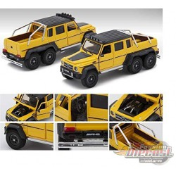 Mercedes Benz G63 AMG 6x6  with Spotlight - Yellow with Black Top - Era  Car 1/64 - MB196X6RN07 -  Passion Diecast