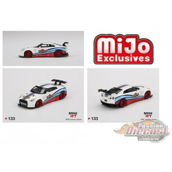 Nissan GT-R R35 Type 1  LB WORKS Martini Racing  -  MINI GT 1:64  Mijo Exclusive - MGT00133 MJ -  Passion Diecast