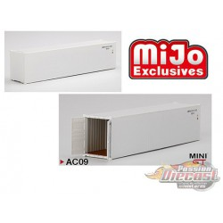40' Dry Container White  - MINI GT 1:64 - Mijo Exclusive - MGTAC09  -  Passion Diecast