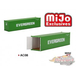 40' Dry Container EVERGREEN  - MINI GT 1:64 - Mijo Exclusive - MGTAC08 -  Passion Diecast