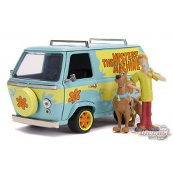 Scooby-Doo! - Mystery Machines with Scooby & Shaggy Figures -  Jada 1/24 - 31720 - Passion Diecast
